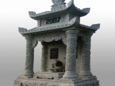 Lăng thờ đá ninh vân nguyên khối