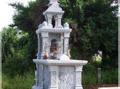 Mộ công giáo đá ninh vân nguyên khối